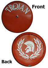 Red/ White Wreath/ Helmet Rear Carrier Vespa/Lambretta Scooter Wheel Cover