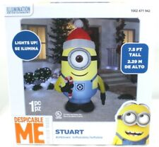gemmy 75 foot tall despicable me stuart minions christmas inflatable airblown