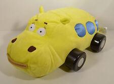 "15"" Hippobus Plush Stuffed Hippo Yellow School Bus Disney Patch Jungle Junction"