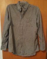 000 Vintage Men's Par Four XL Tall Button Front Long Sleeve Checkered Shirt