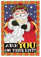 Mary Engelbreit-SANTA'S GOOD LIST-Sunrise Christmas Card w/Holiday Envelope