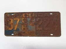 VINTAGE 1952 FLORIDA LICENSE PLATE GREAT FOR DEN MAN CAVE BARN SHOP DISPLAY