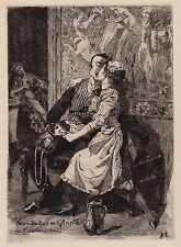 curiosa Martin van Maële gravure originale GRANDE DANSE MACABRE DES VIFS 1905