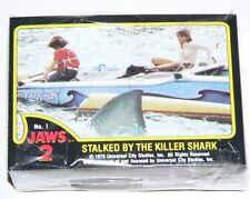 Jaws 2 by Topps in 1978. Complete 59 card & 11 sticker set.