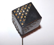 Wonderful Black Cube With Rhinestones Hat Pin