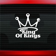 King Of Kings Crown Christian Car Decal Truck Window Vinyl Sticker (20 COLORS!)