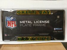 Green Bay Packers Metal Frame Acrylic Inlaid Mirror License Plate Frame - NFL