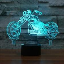Led night light 3d Lamp optical Motorcycle Control 7 Colors Change USB gift kids