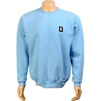 BAIT B Block Logo Crewneck light blue // white