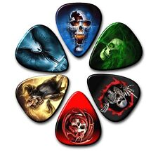 6 GOTHIC ~ Guitar Picks ~ Plectrums ~ Plectra ~ Printed Both Sides