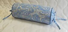 Bolster Pillow made w Ralph Lauren Harbor View Periwinkle Blue Paisley Fabric