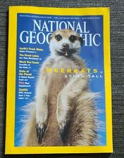 National Geographic September 2002 w/ Map, Meerkats, Very Good Condition