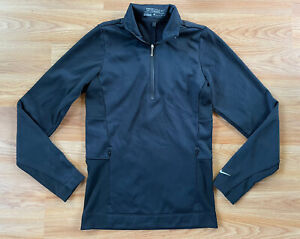 Women's NIKE Golf Tour Performance Therma Fit Sweater Jacket Zip Pocket Black XS