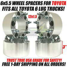 "4 WHEEL SPACERS 6X5.5 | 3"" INCHES FOR ALL 6 LUG TOYOTA TRUCKS 