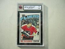 1976/77 O-PEE-CHEE NHL HOCKEY CARD #26 MEL BRIDGMAN ROOKIE KSA 7 NM SHARP!! OPC