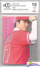 SHOHEI OHTANI 2018 Leaf Premier Rookie #PR1 PINK PARALLEL RC #8/10 BECKETT 10 MT