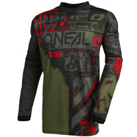 O'Neal 2021 Element RIDE Jersey – Black/Green - Motocross, Off-Road