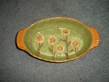 Grasslands Road - Yellow Daisy - Oval Serving Dish - 453131 New w/ Label