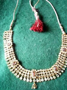 Indian Bollywood Indian Gold Tone Necklace Jewellery Bridal Wedding