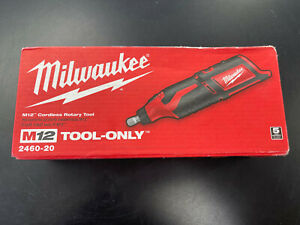 Milwaukee 2460-20 M12 REDLITHIUM Compact Cordless Variable Speed Rotary Tool NEW