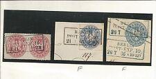 Preußen / BERLIN POST-EXP. 10., je schw. Ra3 (Type a) a. Paar 1 Sgr., Briefstück