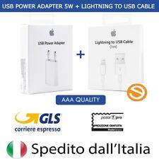 Cavo Lightning E Caricabatterie ORIGINALE Apple Per iPhone 5S 6 6S 7 Plus