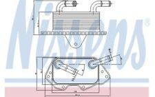 NISSENS Radiador de aceite motor 90662