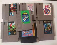 NES Lot of 7 Games Authentic 3-screw  Mario, Blades of Steel, Seicross & More!!!