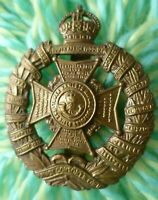 Tower Hamlet Rifles Brigade Cap Badge KC BRASS Slider ANTIQUE Original
