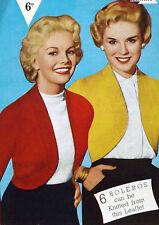 "Donna Knitting Pattern VINTAGE Bolero/Coprispalle Cardigan DK Lana 34-40"" BUST b3102"