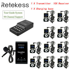 Wireless Tour Guide system Transmitter+Receiver+16 Port Charger Base for Church