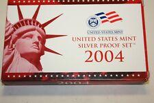 2004-S  United States Mint Silver Proof Set Box & COA  [030GAJ]
