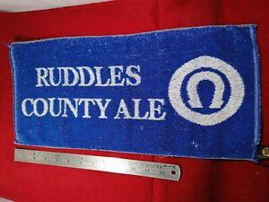 Vintage 1970s Ruddles County Ale bar towel. Man Cave Home Bar. Rare