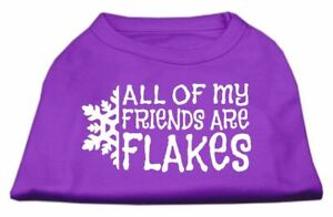All my friends are Flakes Screen Print Dog Cat Pet Puppy Christmas Shirt