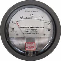 New 0-2 Inch WC Differential Pressure Gauge DPGJH20002X