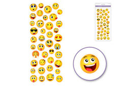 Small Happy Face Emoji Icon Stickers Round Messenger DIY (40pc Sheet)