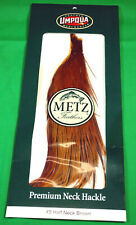 Metz  #3  HALF  BROWN  Dry  Fly  Neck  Hackle  Tying  -  NEW
