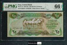 Iraq 1981 - UNC 25 Dinars P72 - PMG 66 EPQ - ***RARE DATE 1981***