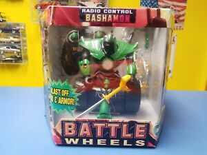 "JOHNNY LIGHTNING  BATTLE WHEELS RADIO CONTROL ""GREEN"" BASHAMON ""NEW"""