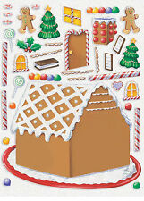 3 X Pegatinas de Navidad casa de pan de jengibre Stocking Relleno Loot Favores Regalos