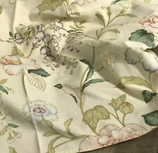 """New listing Vintage Small Floral Card Table Tablecloth Spring Flowers 33""""x36"""""""