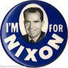 1960 Campaign I'M FOR Richard NIXON Picture Button (1054)