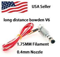 Metal J-head V6 Hotend 1.75mm/0.4mm Nozzle Bowden Extruder Reprap 3D Printer