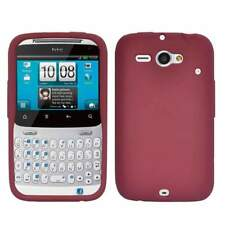 AMZER Silicone Skin Jelly Case Cover For HTC ChaCha /Status -Maroon Red