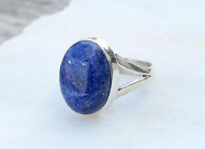 Big Lapis Lazuli Ring Stone Gemstone Ring 925 Solid Sterling Silver All Size