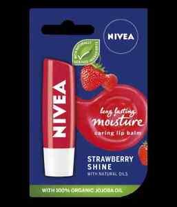 NIVEA Strawberry Shine Lip Balm - With Jojoba Oil
