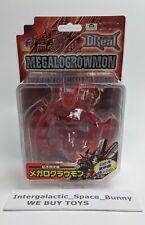 D-Real Bandai Transparente Rojo Raro Megalogrowmon Digital Monster Digimon Cifra