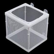 Fish Tank Plastic Frame Net Fry Hatchery Breeder Breeding Incubator Isolation