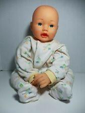 "Hong Kong City Toys Fty. Ltd Doll Soft Weighted Cloth Body Blue Eyes reborn 15"""