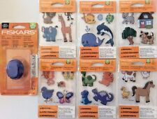 Lot of 6 Fiskars Kids Clear Acrylic Stamp Sets, 26 Stamps + Stamp Block NIP